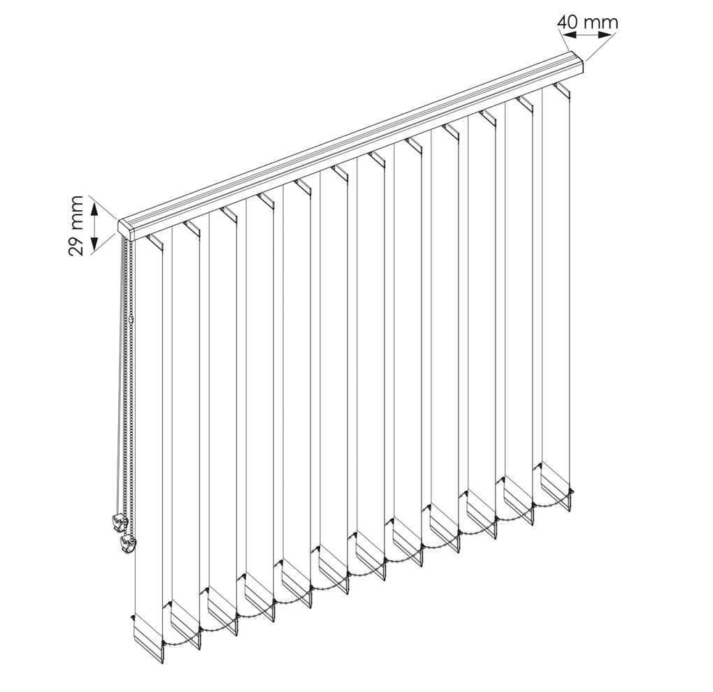 Gráfico de estores verticales